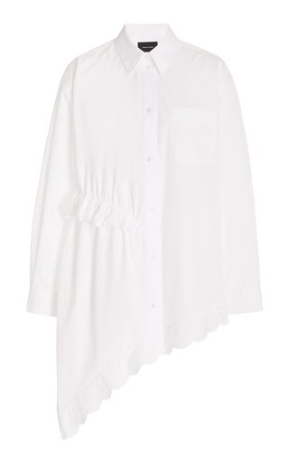 Asymmetric Cotton Button-Down Shirt