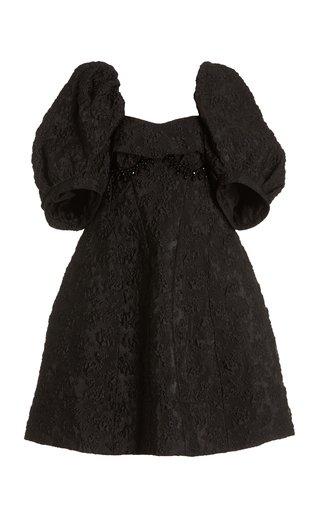 Embellished Cloque Mini Dress