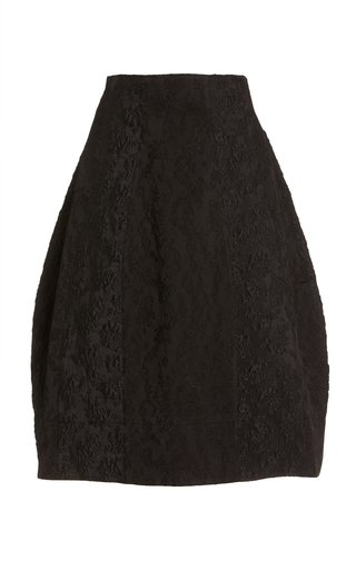 Sculpted Satin-Jacquard Midi Skirt