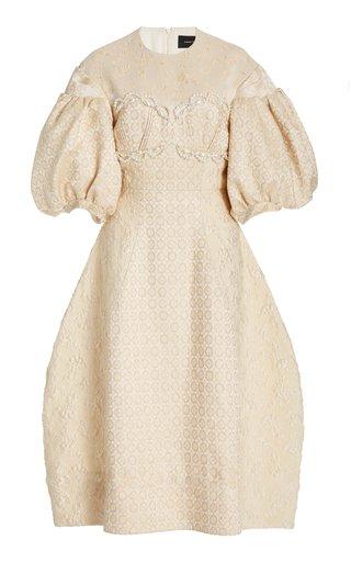 Beaded Jacquard Midi Dress