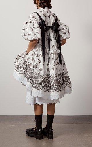 Ruffled Cotton Shirt Dress