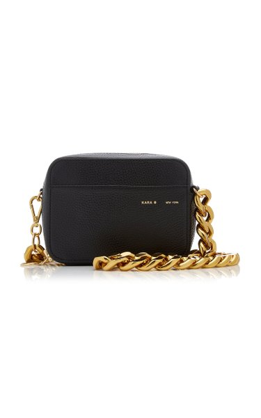 Universal Chain-Detailed Leather Camera Bag