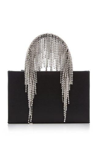 Midi Fringe Crystal Leather Top Handle