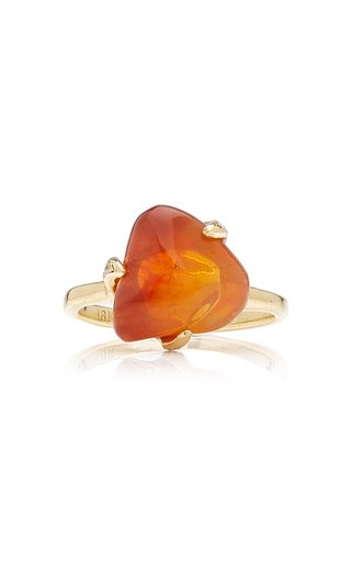 Tumbled Opal 18K Yellow Gold Ring