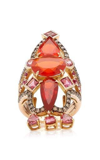 Empress 18K Rose Gold Multi-Stone Ring