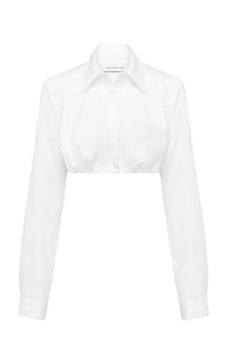 Cotton Poplin Cropped Shirt