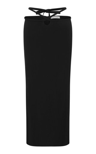 Loophole Tie-Accent Gabardine Skirt