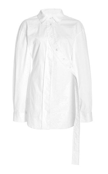 Cotton-Poplin Button-Down Shirt