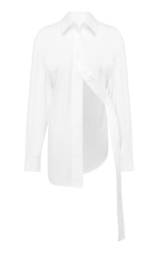 Cotton-Poplin Button-Down Shirt