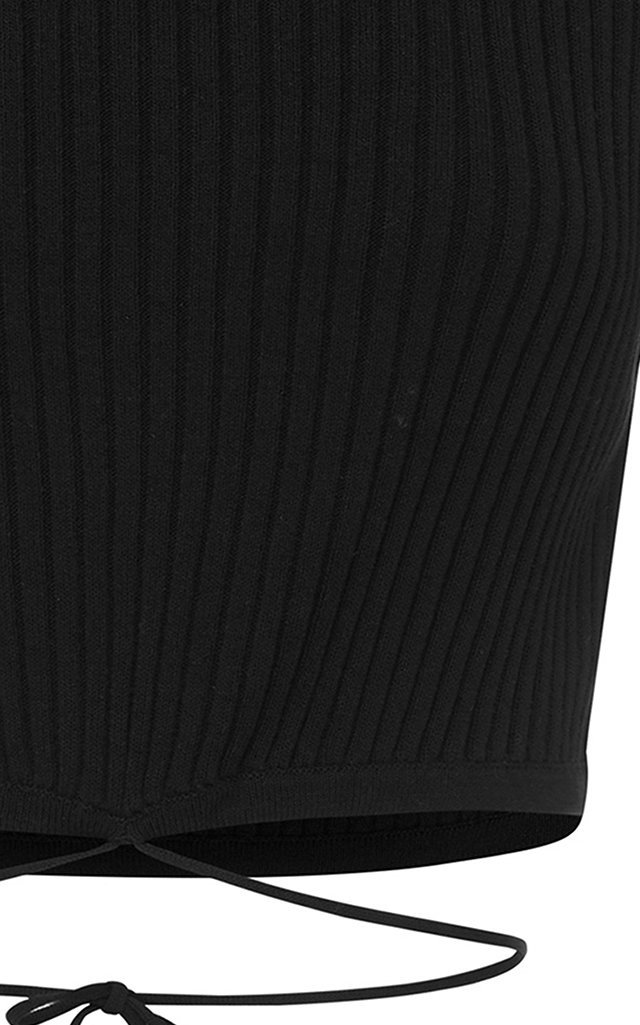 Ribbed Knit Cropped Top