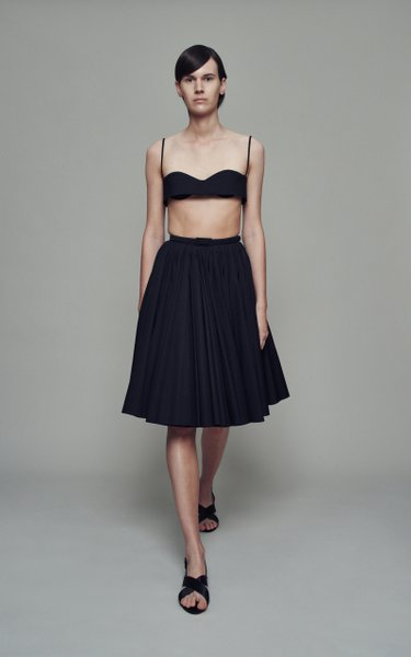 Lily Pleated Cotton Skirt