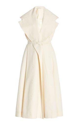 Blythe Cotton-Blend Midi Wrap Dress