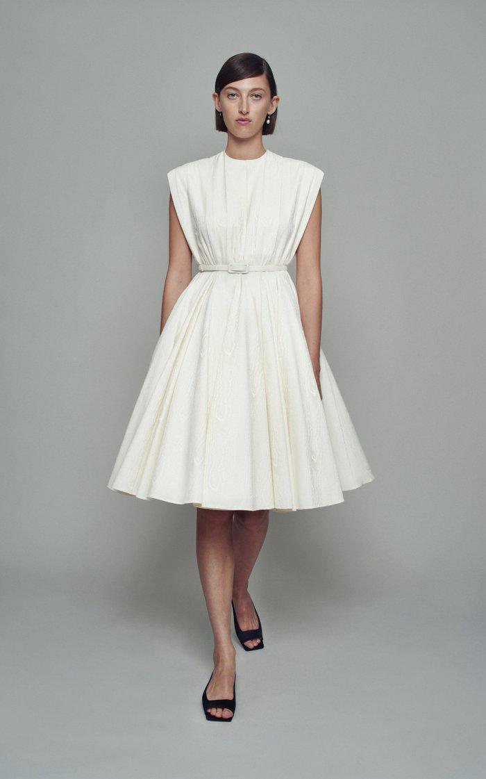 Lou Belted Cotton-Blend Dress