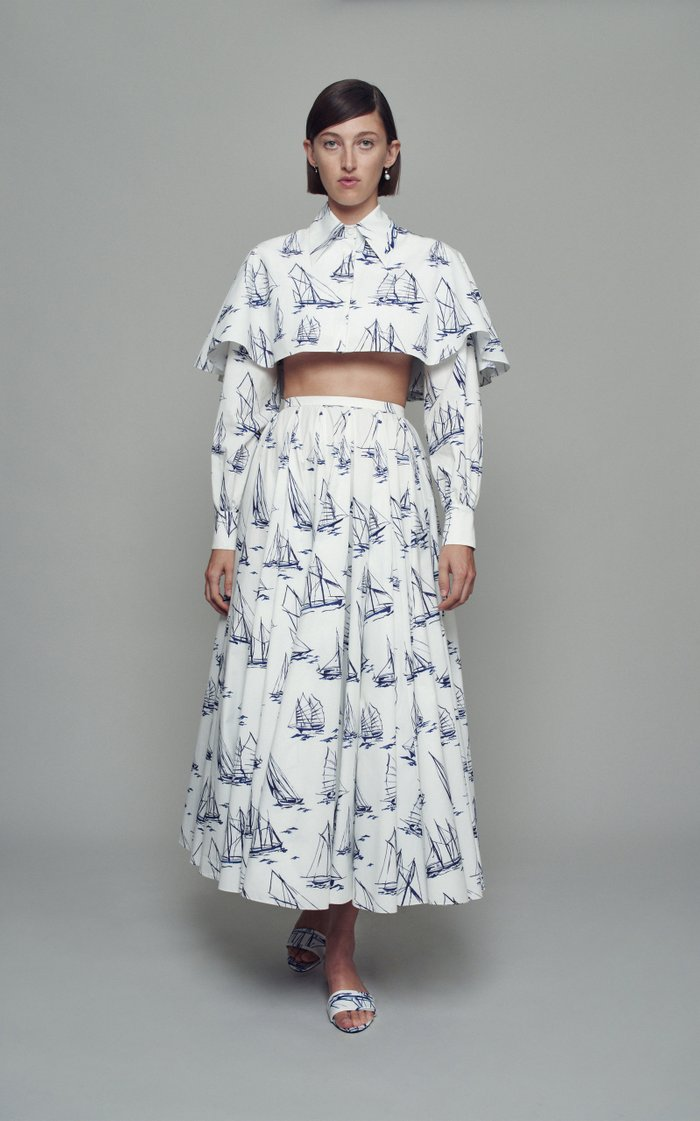 Lily Printed Cotton Skirt