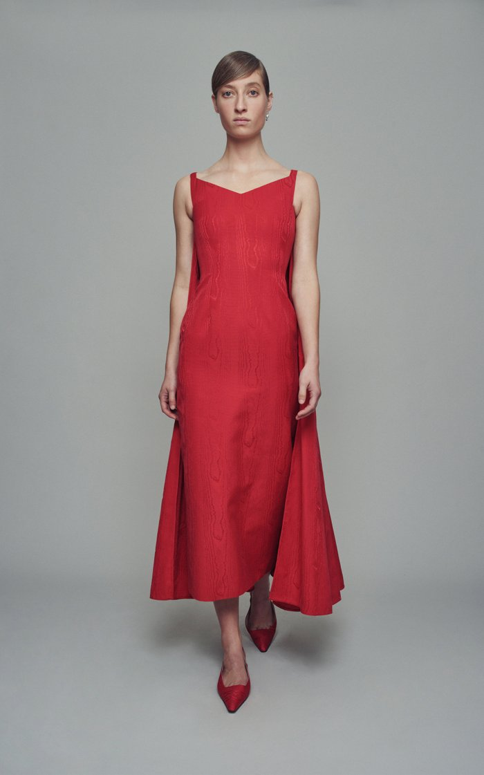 Lina Moiré Dress