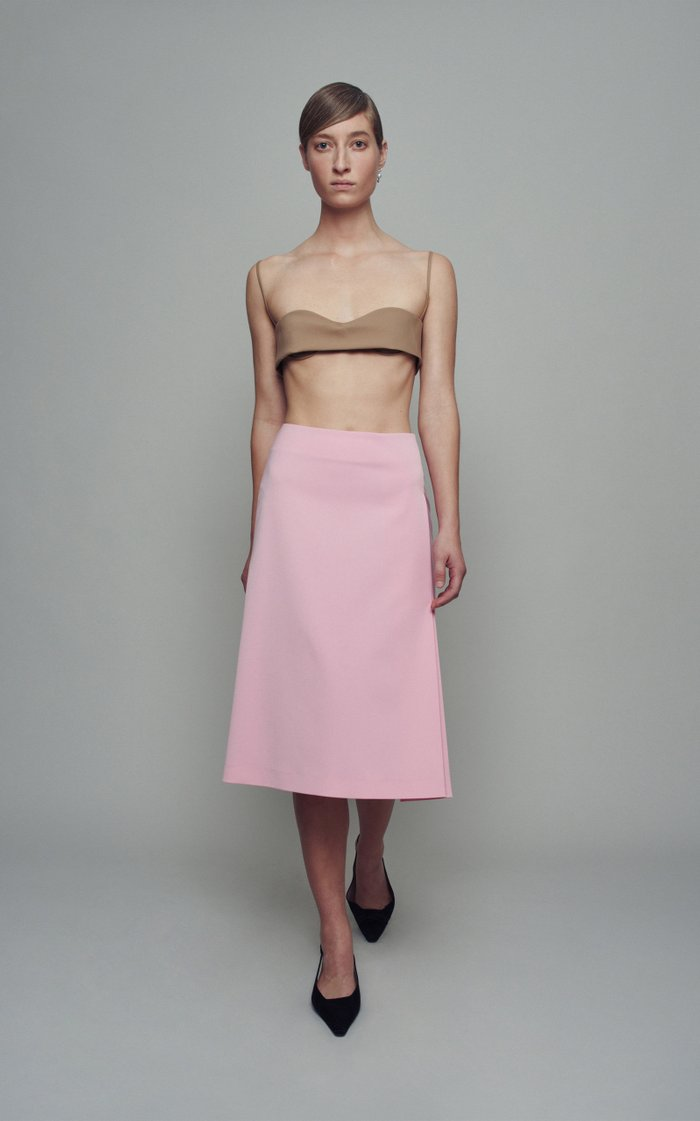 Tulip Crepe Skirt