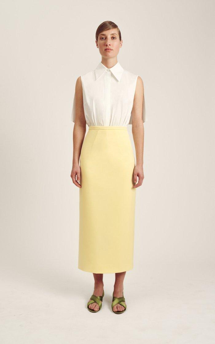 Lotta Crepe Midi Skirt