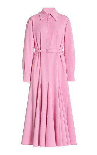 Marion Belted Poplin Midi Shirt Dress
