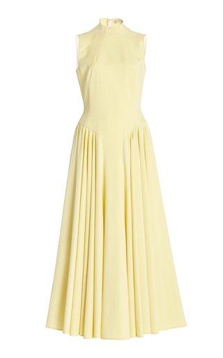 Neville Sleeveless Crepe Maxi Dress