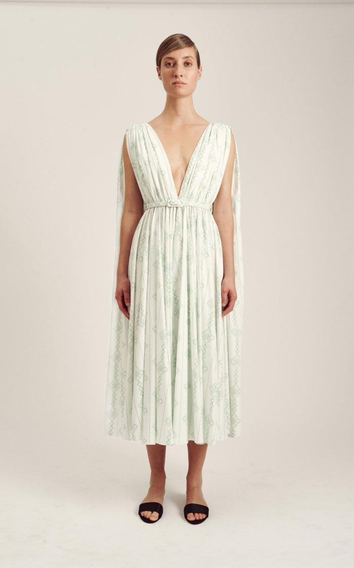 Elio Belted Cotton Dress