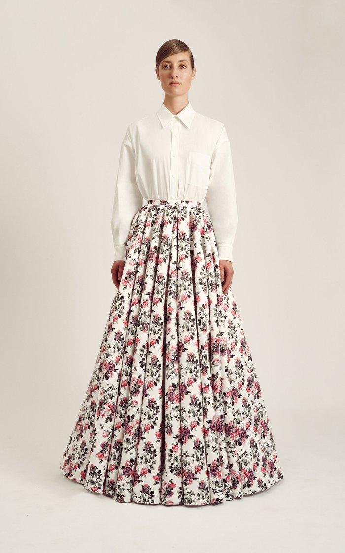 Olwen Floral Crepe Skirt