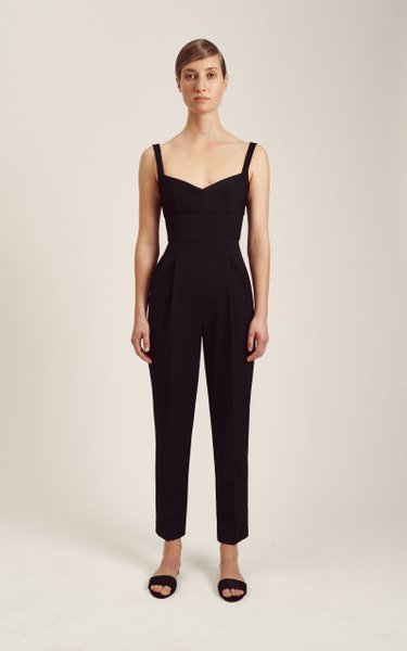 Clio Pleated Crepe Jumpsuit