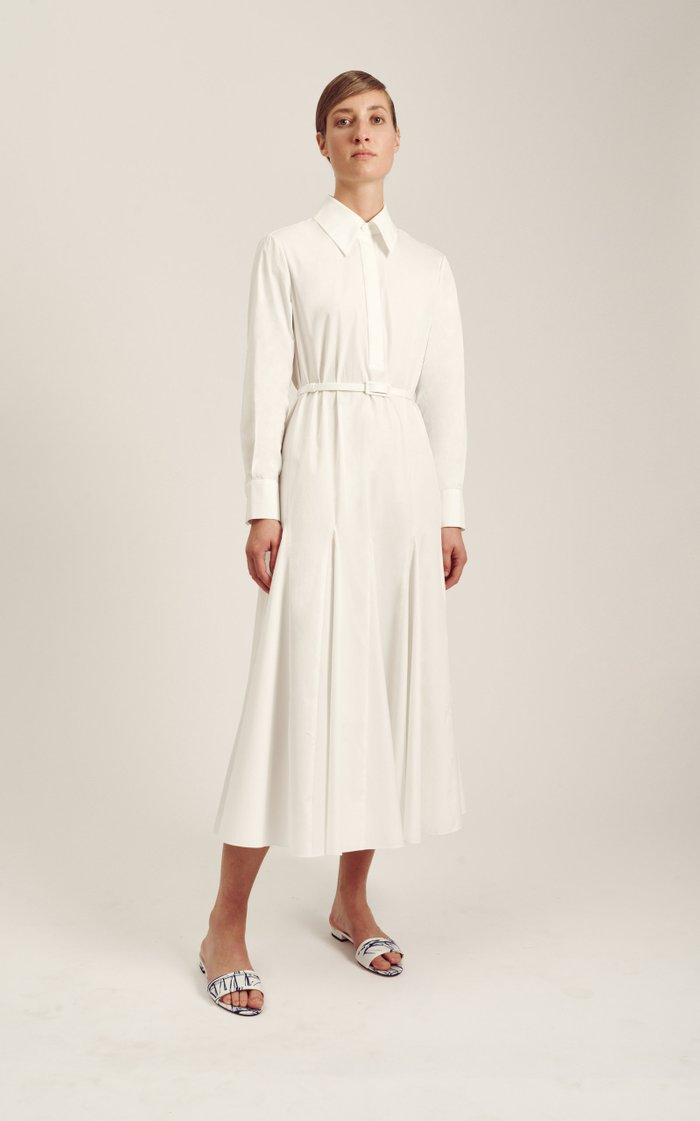 Marion Belted Cotton Dress