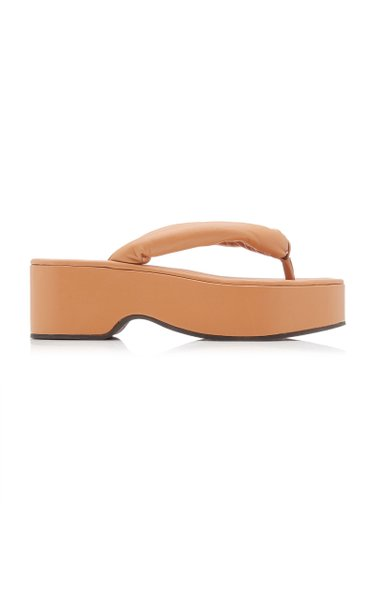 Rio Puffy Leather Platform Sandals