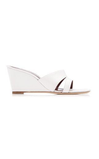 Bree Leather Wedge Sandals