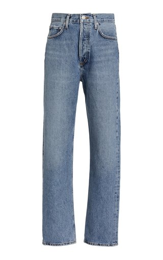90s Pinch-Waist Rigid High-Rise Straight-Leg Jeans
