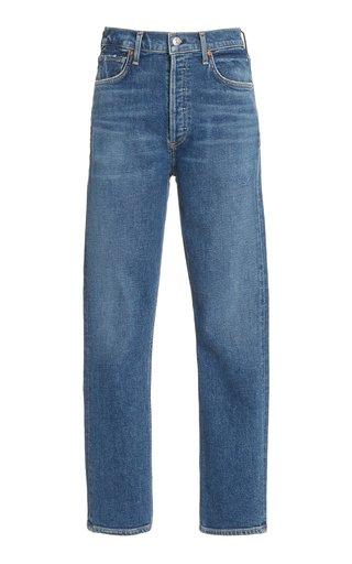 Charlotte Stretch High-Rise Straight-Leg Jeans