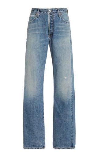 Emery Rigid Mid-Rise Straight-Leg Jeans