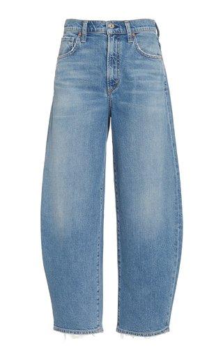 Calista Organic Curved-Leg High-Rise Jeans