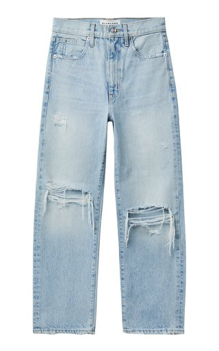London Ankle Rigid High-Rise Straight-Leg Jeans