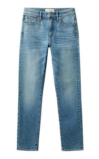 Leila Stretch Mid-Rise Slim-Leg Jeans