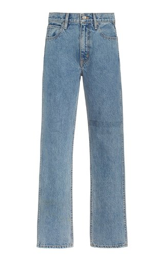 Virginia Rigid High-Rise Tapered Slim-Leg Jeans