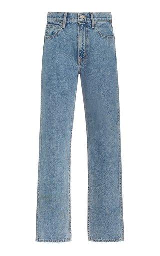 Virginia Rigid High-Rise Organic Cotton Tapered Slim-Leg Jeans