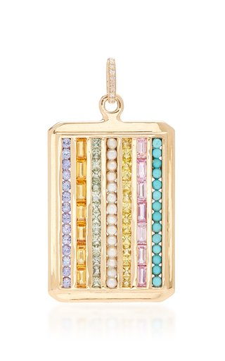 Siqueiros 14K Yellow Gold Multi-Stone Charm