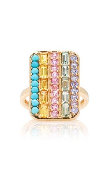 Hayek 14K Yellow Gold Multi-Stone Ring