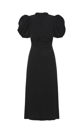 Dawn Belted Crepe Dress