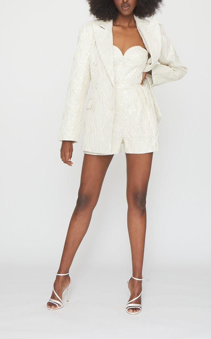 Lana Jacquard Mini Jumpsuit