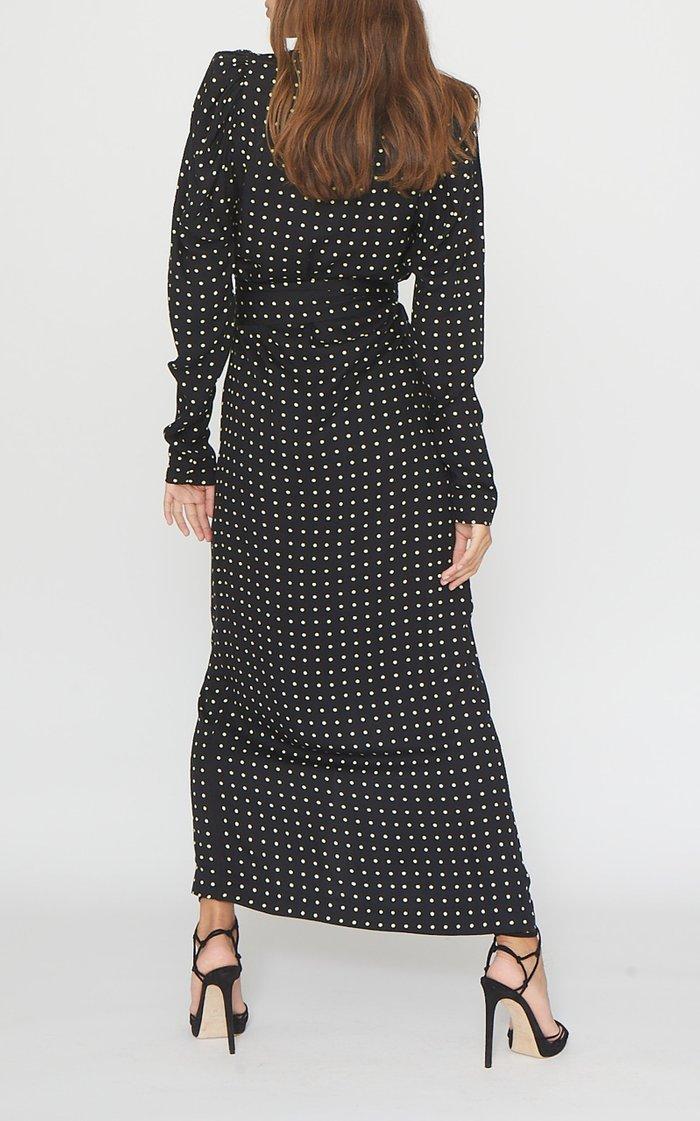 Bridget Polka Dot Georgette Wrap Dress