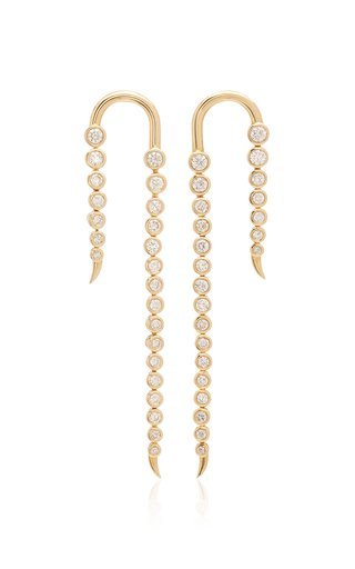 Nile 14K Gold Diamons Earrings