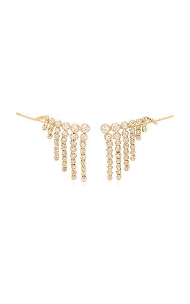 Fringe 14K Gold Diamond Earrings