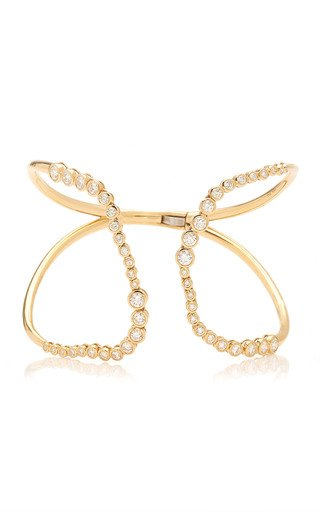 Magisterial 14K Gold and Diamond Cuff