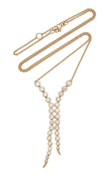 Delta Pendulum 14K Gold and Diamond Necklace