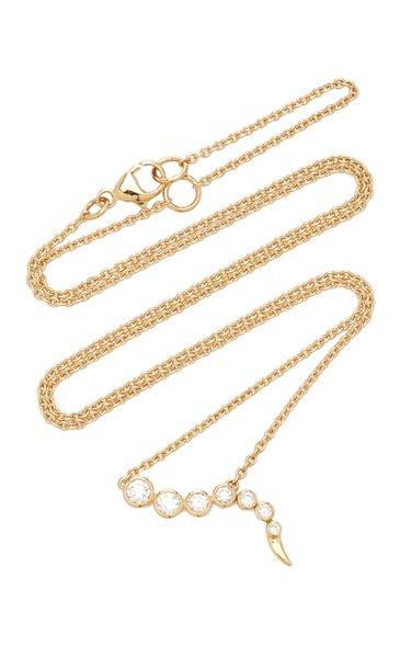 Delphina 14K Gold Diamond Necklace