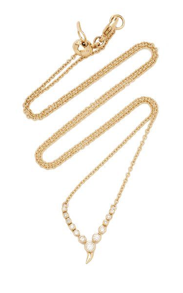 Small Zen 14K Gold and Diamond Necklace