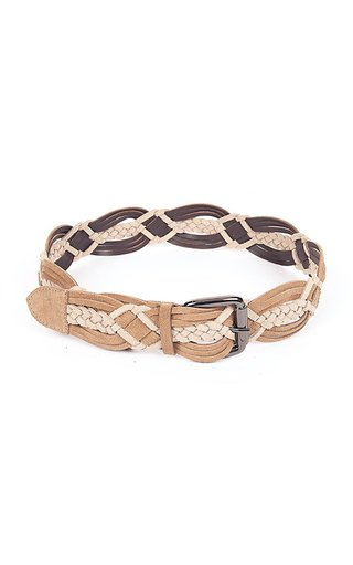 Braided Suede Calf Leather Belt
