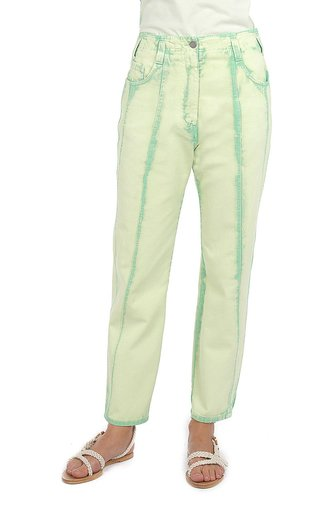 Garment Dyed Drill High-Rise Straight-Leg Jeans